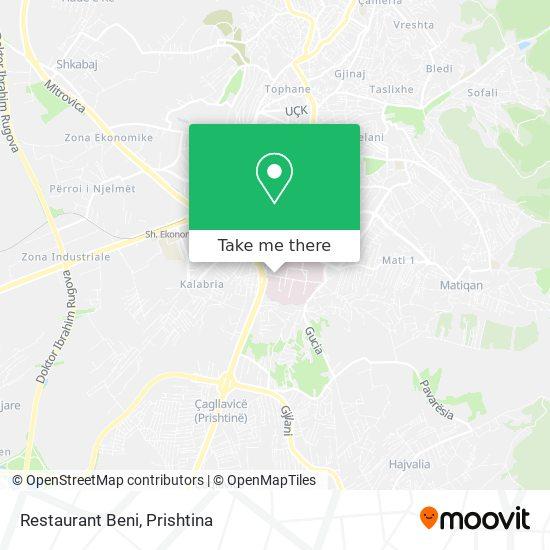 Restaurant Beni map