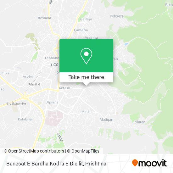 Banesat E Bardha Kodra E Diellit map
