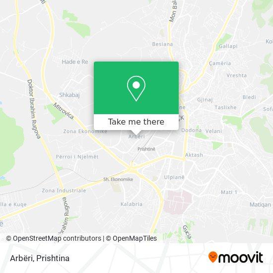 Arbëri map