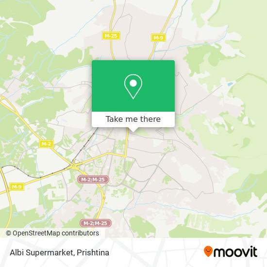 Albi Supermarket map