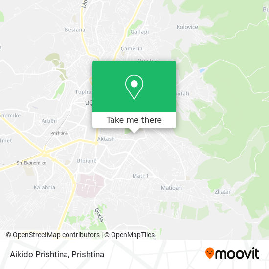 Aikido Prishtina map