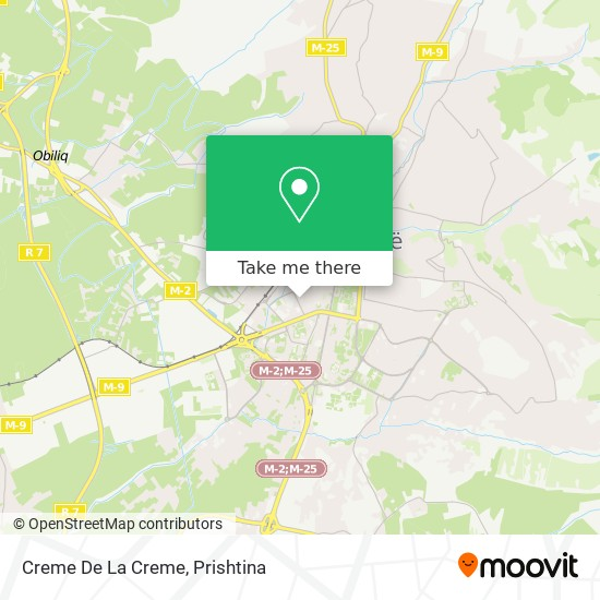 Creme De La Creme map