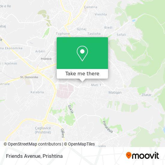 Friends Avenue map