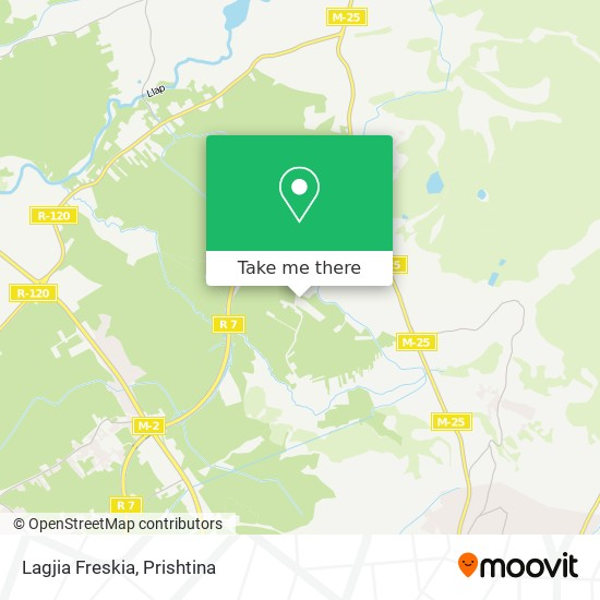 Lagjia Freskia map