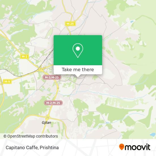 Capitano Caffe map