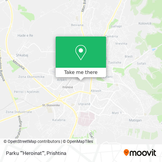 """Parku """"""""Heroinat"""""""" map"""