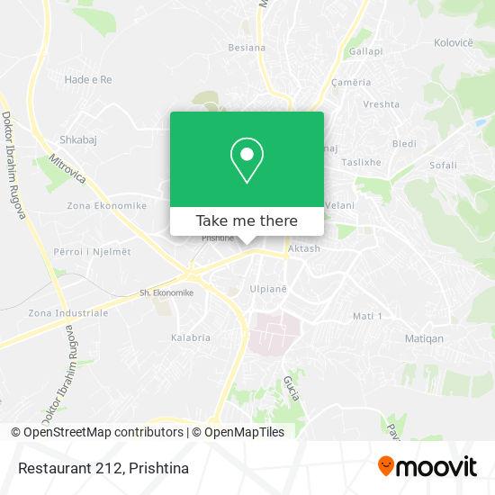 Restaurant 212 map