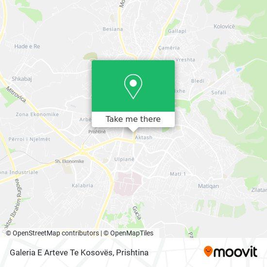 Galeria E Arteve Te Kosoves map