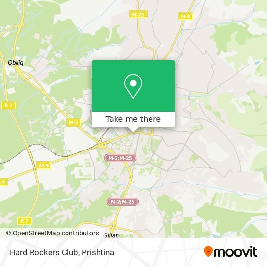 Hard Rockers Club map