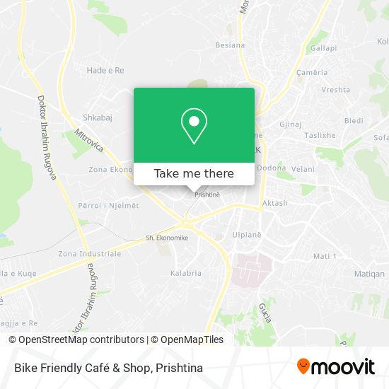Bike Friendly Café & Shop map