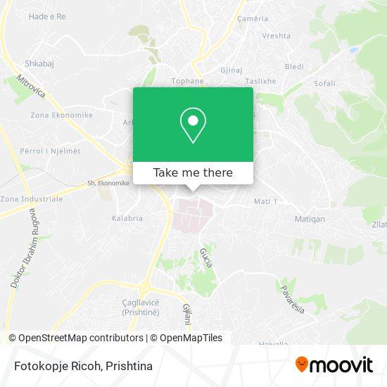 Fotokopje Ricoh map