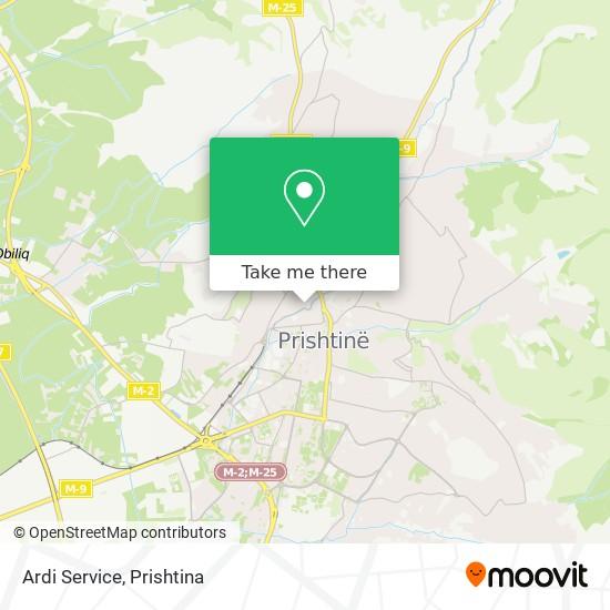 Ardi Service map