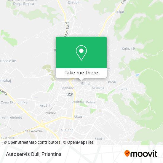 Autoservis Duli map