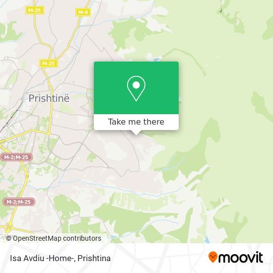 Isa Avdiu -Home- map