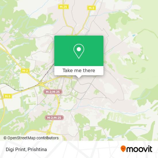 Digi Print map