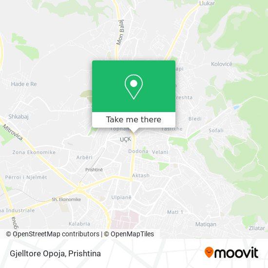 Gjelltore Opoja map