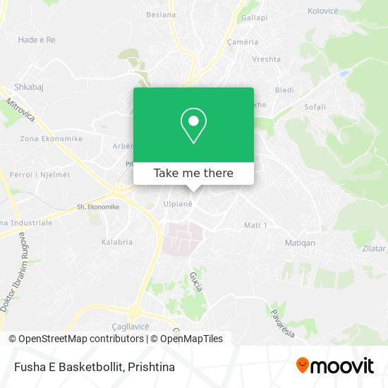 Fusha E Basketbollit map