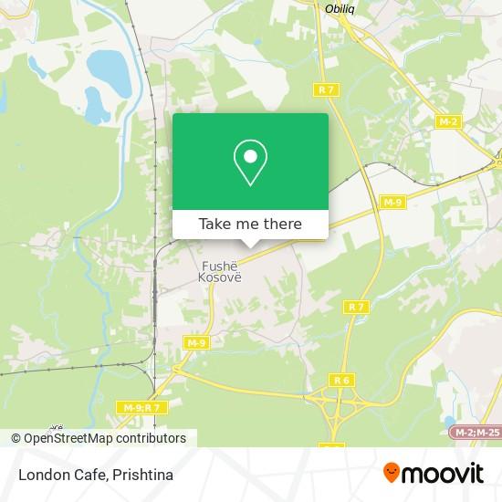 London Cafe map
