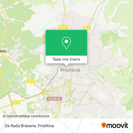 De Rada Braserie map