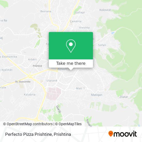 Perfecto Pizza Prishtine map