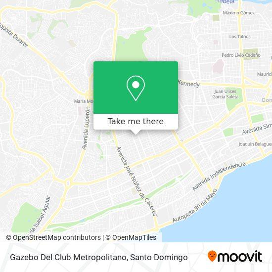 Gazebo Del Club Metropolitano map