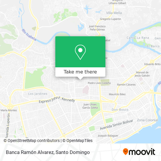 Banca Ramón Alvarez map