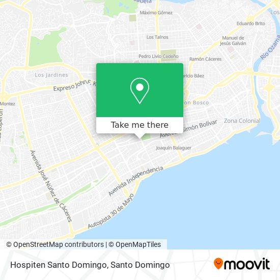 Hospiten Santo Domingo map