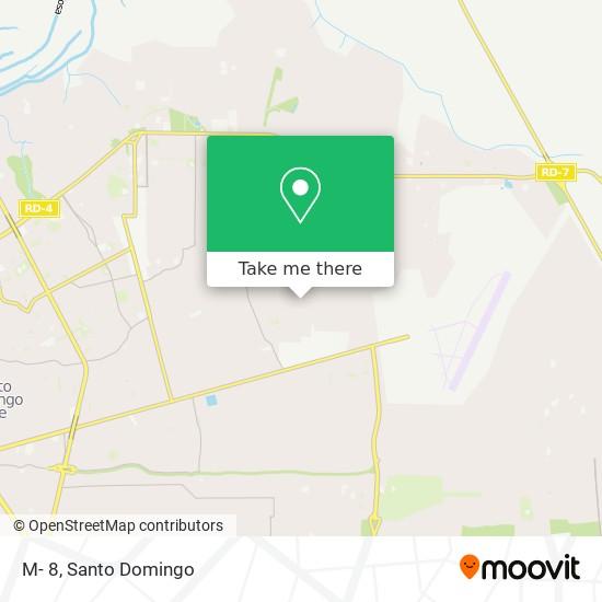 M- 8 map