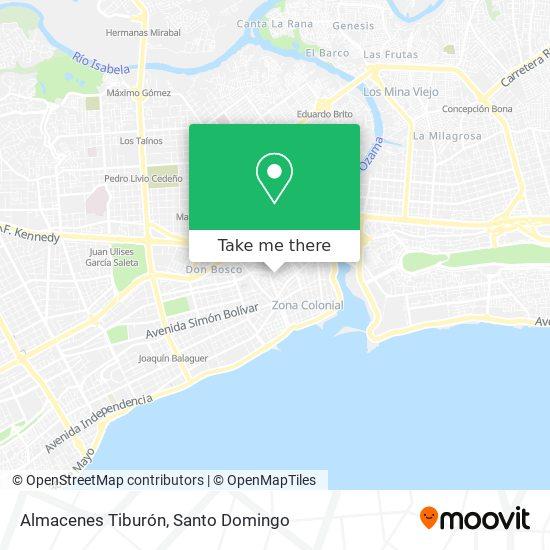 Almacenes Tiburón map