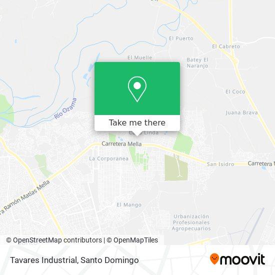 Tavares Industrial map