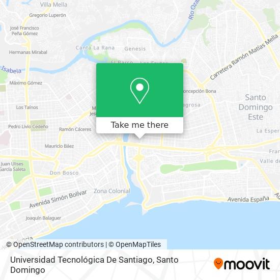 Universidad Tecnológica De Santiago map