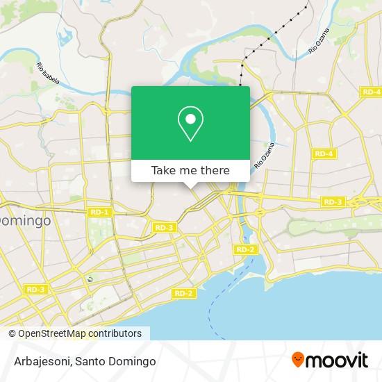 Arbajesoni map