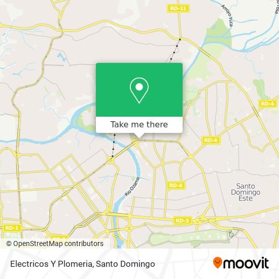 Electricos Y Plomeria map