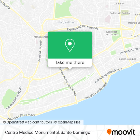 Centro Médico Monumental map