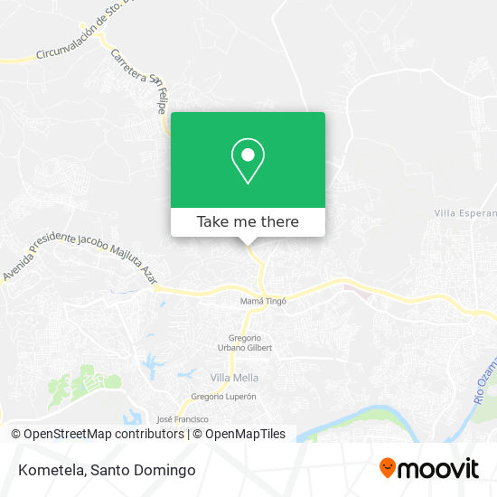 Kometela map