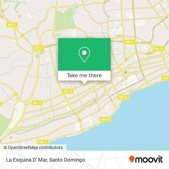 La Esquina D' Mar map