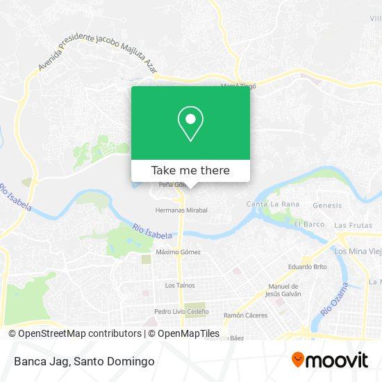 Banca Jag map