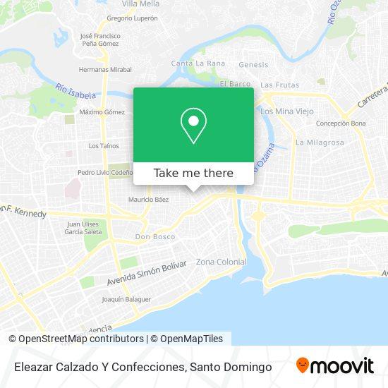 Eleazar Calzado Y Confecciones map