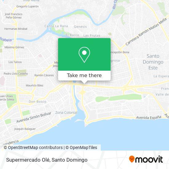 Supermercado Olé map