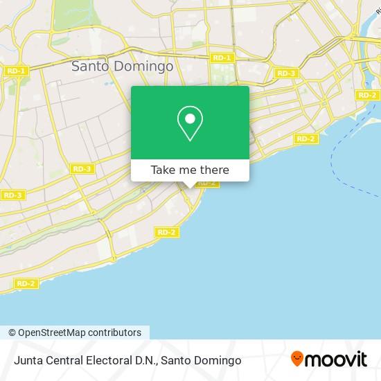 Junta Central Electoral D.N. map