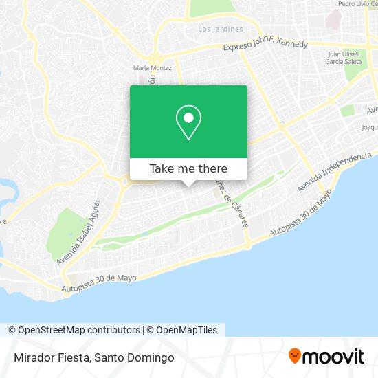 Mirador Fiesta map