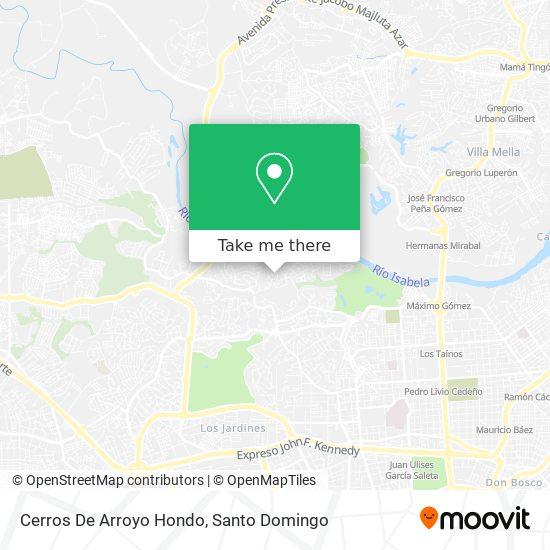 Cerros De Arroyo Hondo map