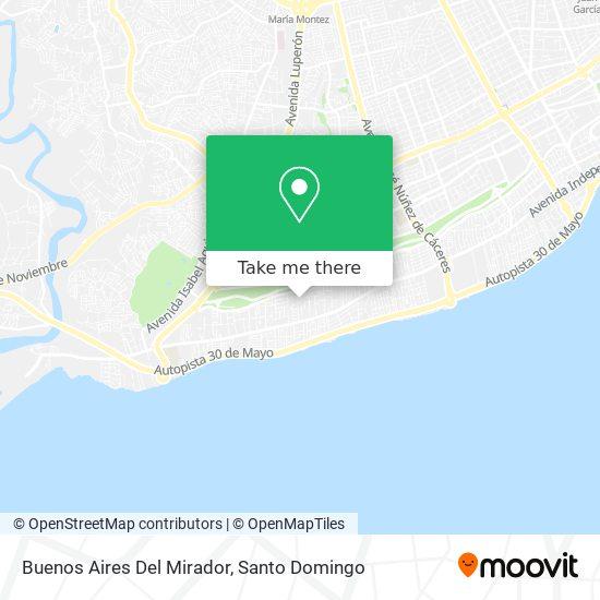 Buenos Aires Del Mirador map