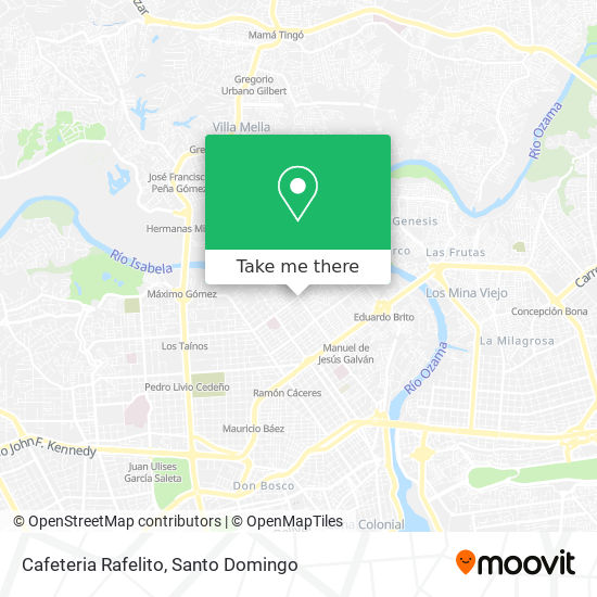 Cafeteria Rafelito map