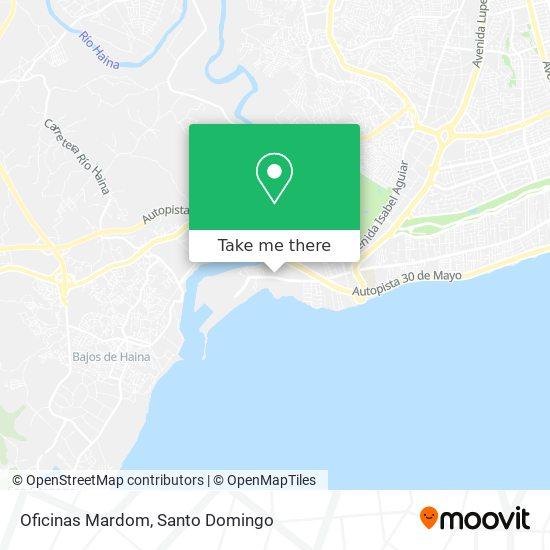 Oficinas Mardom map