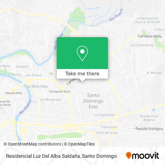 Residencial Luz Del Alba Saldaña map