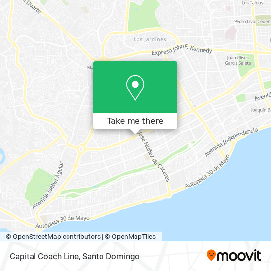 Capital Coach Line map