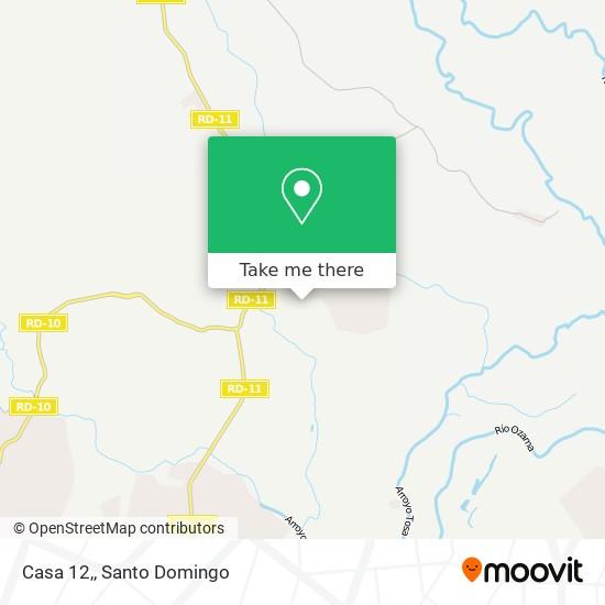 Casa 12, map