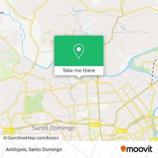 Antílopes map