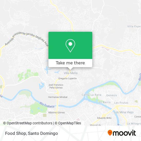 Food Shop map